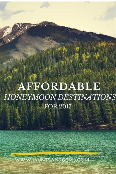 25  best ideas about Affordable honeymoon destinations on