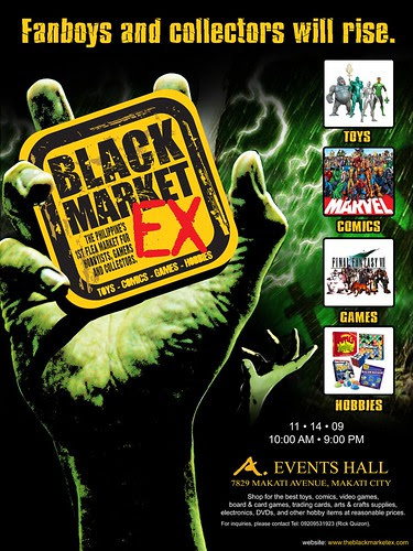 black market ex 1st philippine flea for hobbyist collectors gamers toy-comics enthusiats