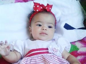 Criança morreu por asfixia causada por ingestão de leite (Foto: Arquivo Pessoal)