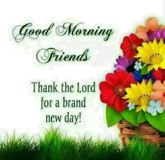 Good Morning Friends Thanks The Lord For A Brand New Day Pictures