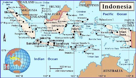 Geography Indonesia Map