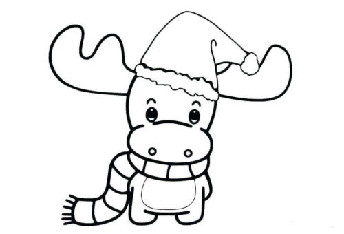 Reindeer Coloring Pictures For Kids Drawing With Crayons