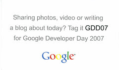 Google Developer Day 2007 tag