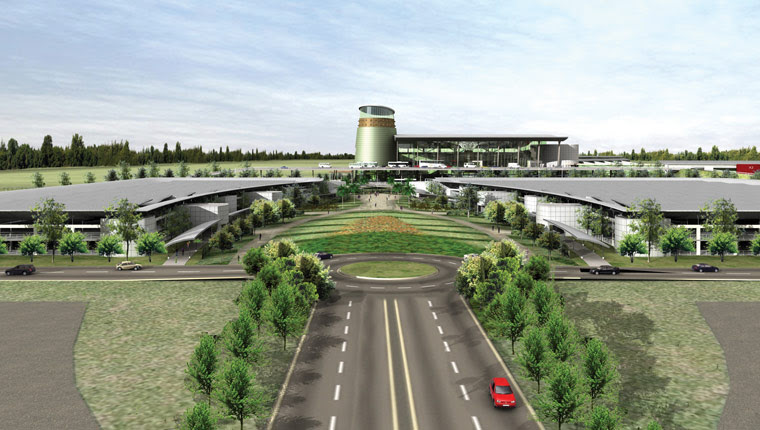 A proposed rendering for new Lusaka Airport