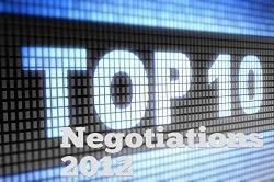 Top 10 Negotiation Stories of 2012