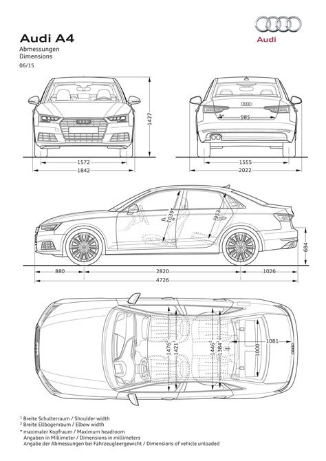 2016 Audi A4 Sedan Revealed with 120 Kg Weight Loss and
