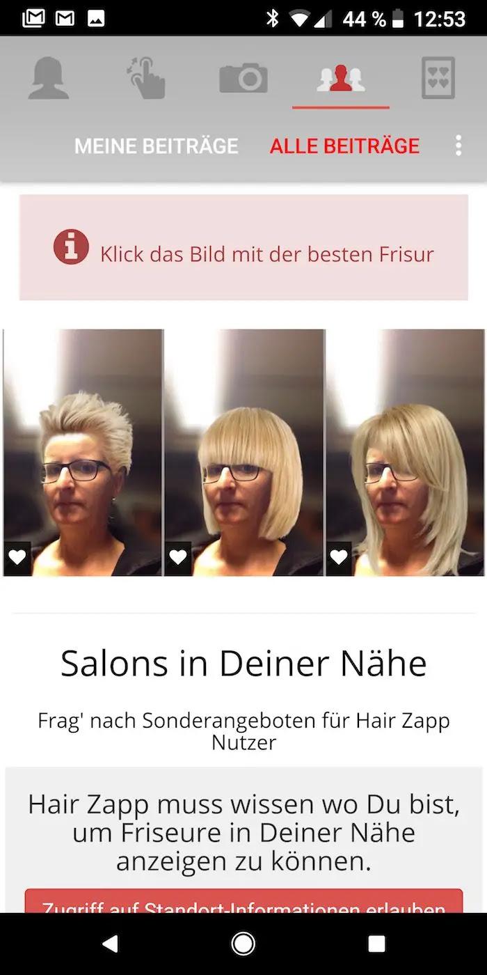 Hair Zapp Dein Gesicht Mit Einer Neuen Frisur Android User
