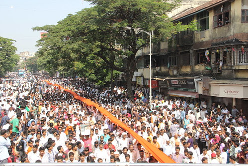 Shiv Sainiks March With The Tiger King by firoze shakir photographerno1