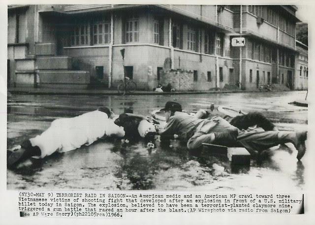Terrorist Bombings in Saigon - Press Photo
