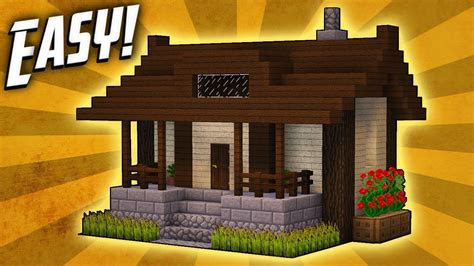 minecraft   build  small survival house tutorial