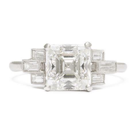 A La Vieille Russie  Art Deco Asscher cut Diamond