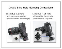 PJ1031: Double Blind Hole Mounting Comparison - Short vs Long Stud Mounting of PW to Camera Bottom