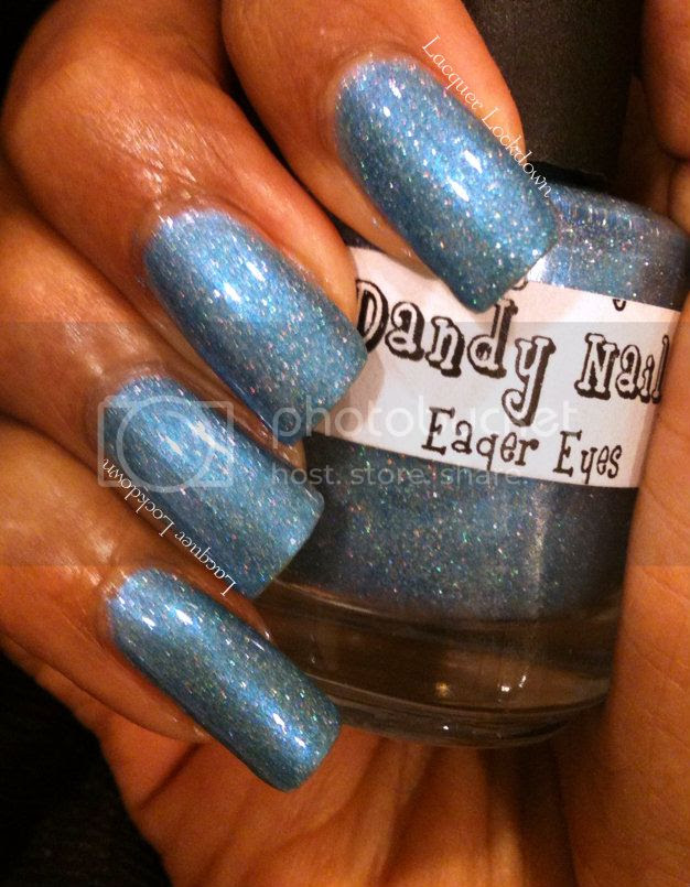 Lacquer Lockdown - Dandy Nails, Dandy Nails Eager Eyes, holographic polish, floral, dandelion nail art, freehand nail art, nail art, indie polish, easy nail art, Kiss Nail Art Striper