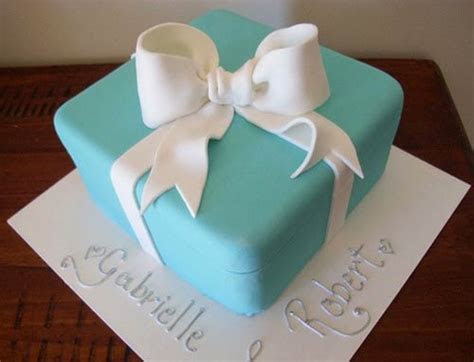 Tiffany Wedding Cake & Blue Gift Box Cake Designs