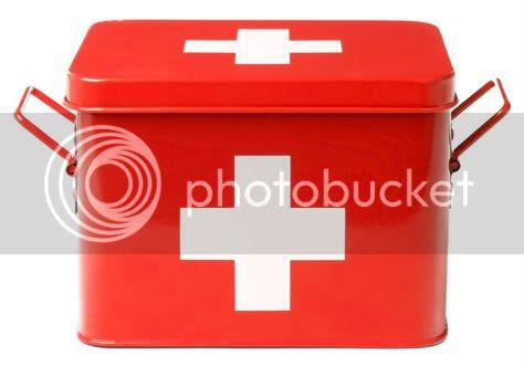 MEDICINE BOX W/WHITE CROSS