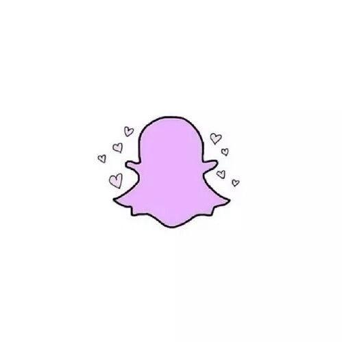 Aesthetic Snapchat Logo Pastel Purple