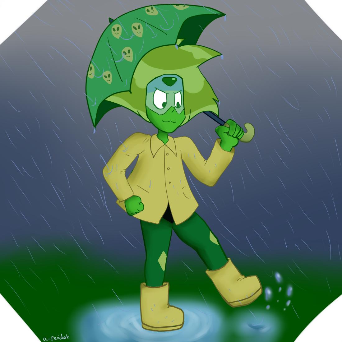I love her umbrella….