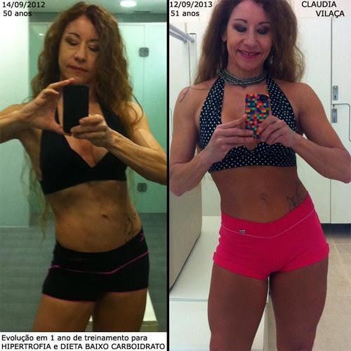 Claudia Vilaça - o antes e o depois (Foto: Reprodução )