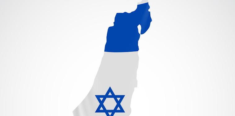 Israel Flag Map