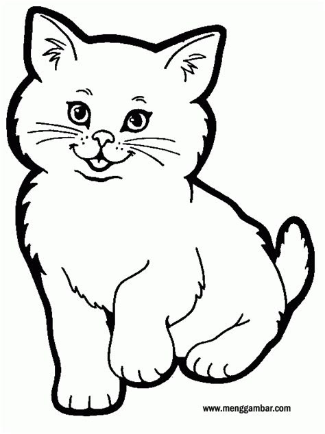 menggambar  mewarnai kucing menggambarcom