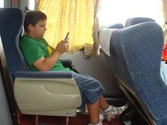 Sam on Bus