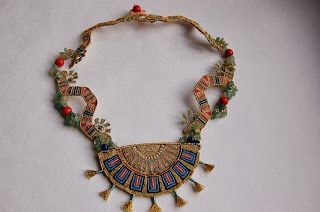 "macrame-etc: ""Maya dragons"" necklace"