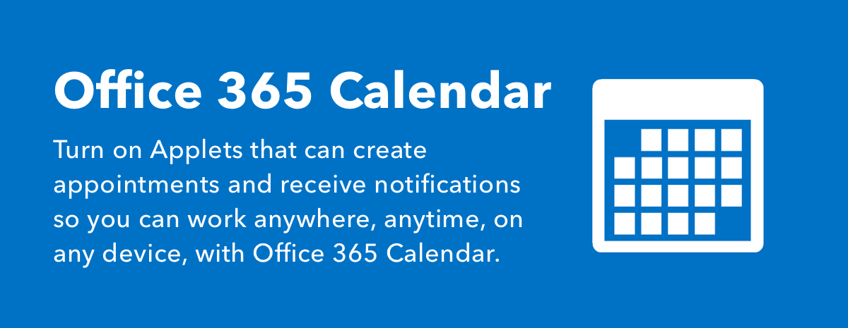 Office 365 Calendar Applets