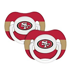NFL Orthondontic Baby Fanatic 2-Pack Pacifiers