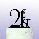 Elegant 21st Birthday Cake Topper   Personalised Cake Toppers