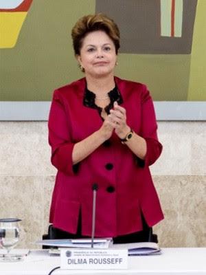 Dilma Rousseff durante a reunião do CDES, nesta quinta-feira (30) (Foto: Roberto Stuckert Filho/PR)