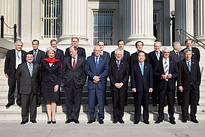 G7 finance ministers at the 1066 meeting (fron...
