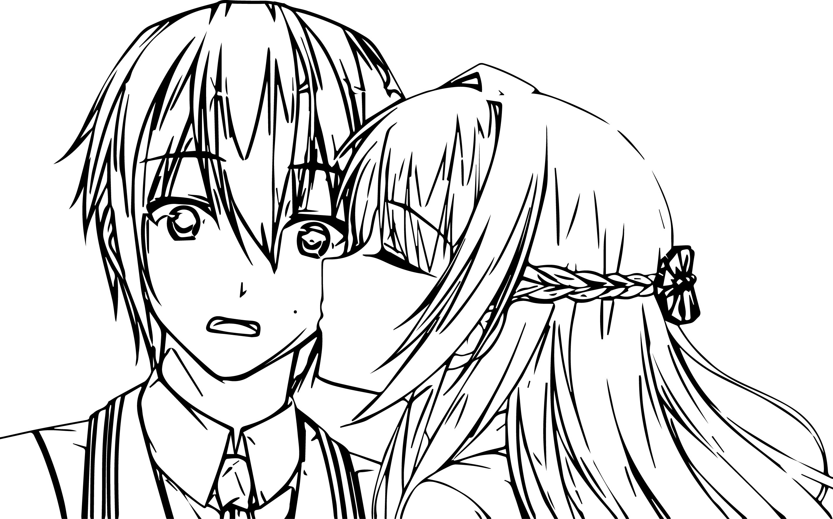 Images Of Cute Relationship Anime Couple Coloring Pages