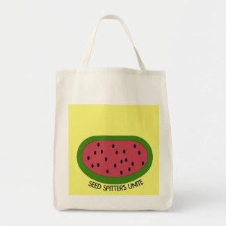 Seed Spitters Unite_Organic Tote Bag bag