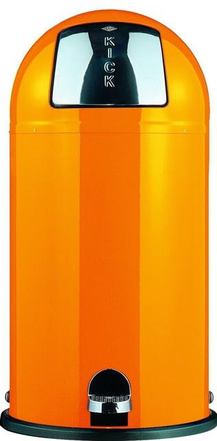 Wesco Kickboy Foot Pedal Bin, Orange - contemporary - kitchen ...
