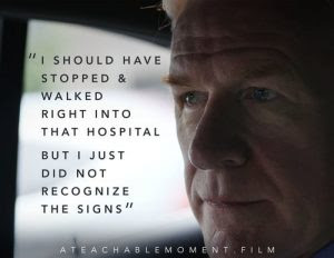 """Mark French With the text, """" I should have stopped and walked right into that hospital but I did not recognize the signs."""""""
