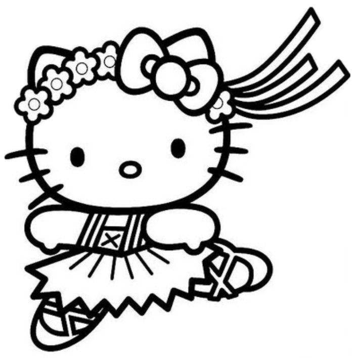 Hello Kitty Coloring Pages To Print At Getcoloringscom Free