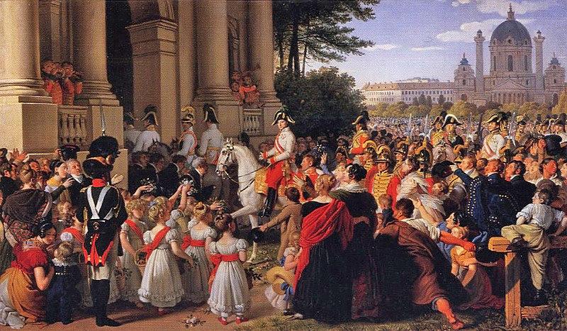 File:Einzug des Kaisers Franz I. (II.) von Österreich (1768-1835) in Wien nach dem Pariser Frieden am 16.Juni 1814 ( vor 1828 ).jpg