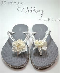 30 Minute Wedding Flip Flops   As The Bunny Hops®
