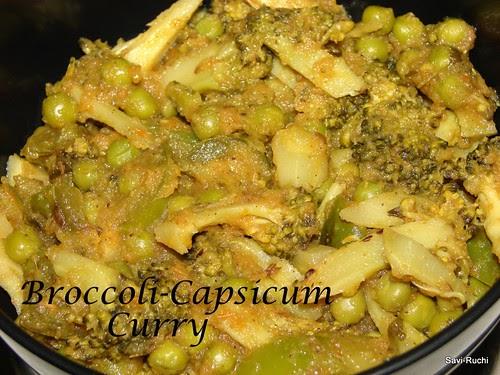 Broccoli Capsicum Curry Savi Ruchi