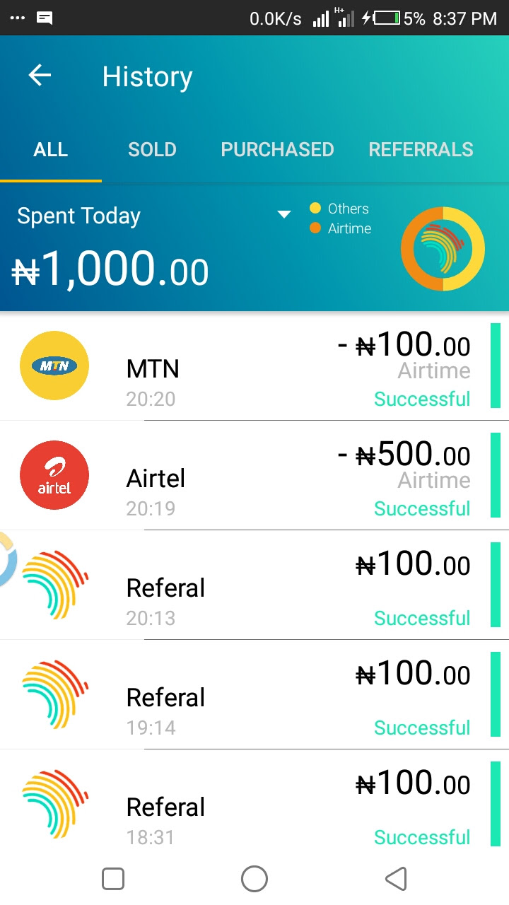 IMG-20171027-WA0073.jpg-Wow Earn Free 70 Naira And Above Free Airtime Credit Today On All Networks Via The New Topup App Now