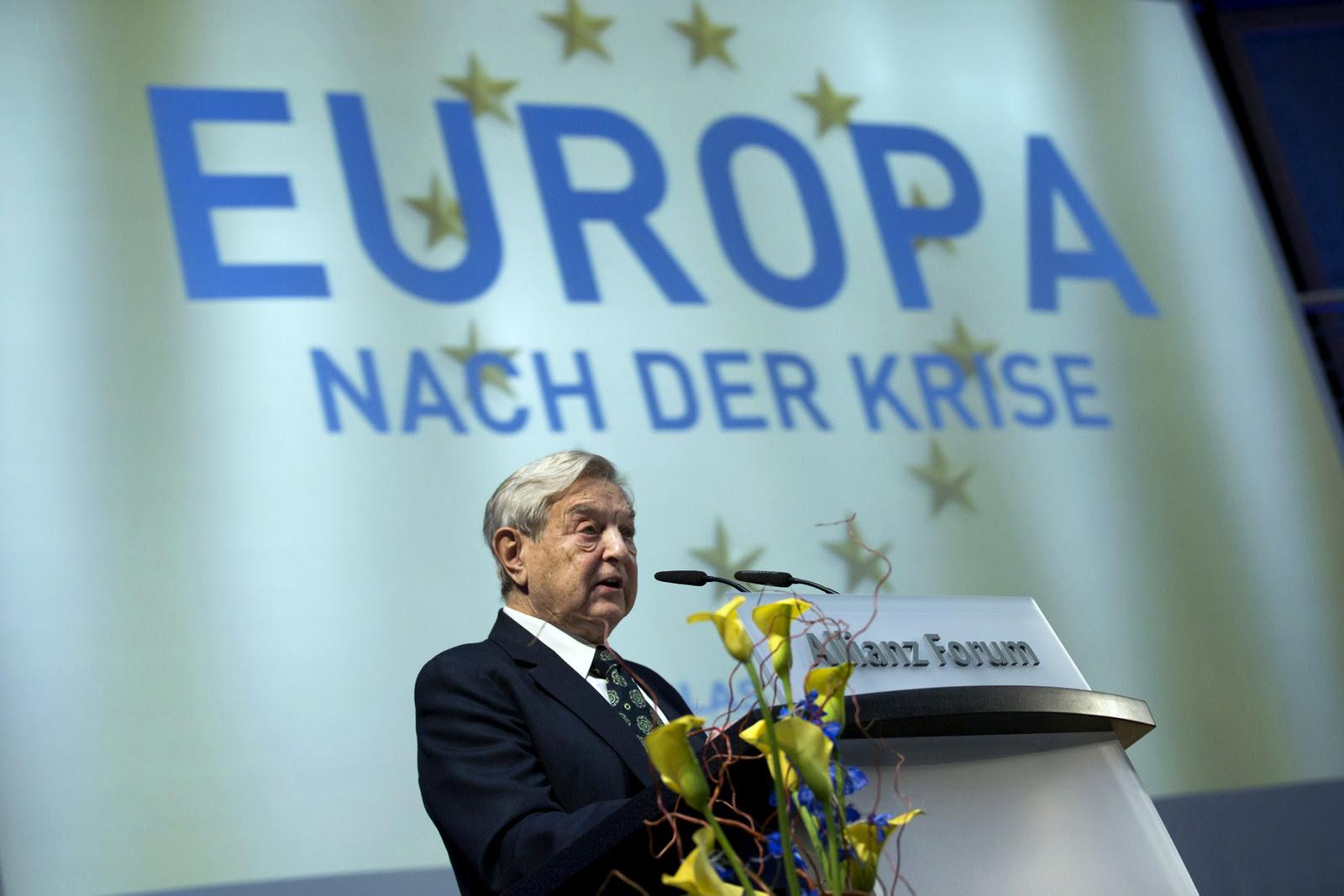 Soros Fund Management Chairman George Soros speaks at the Nicolas Berggruen Conference in Berlin, Germany, Oct. 30, 2012. (AP/Thomas Peter)