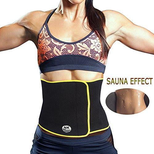 "3b5c2c50e6 Review Waist Trimmer Exercise Wrap Belt Slimming Burn Fat Sweat Weight Loss  Body Shaper Buy Online Best Price ""Sweet Sweat Waist Trimmer"
