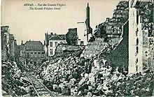 Carte postale montrant les destructions de la Première Guerre mondiale