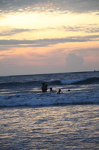 Evening swim in Borneo