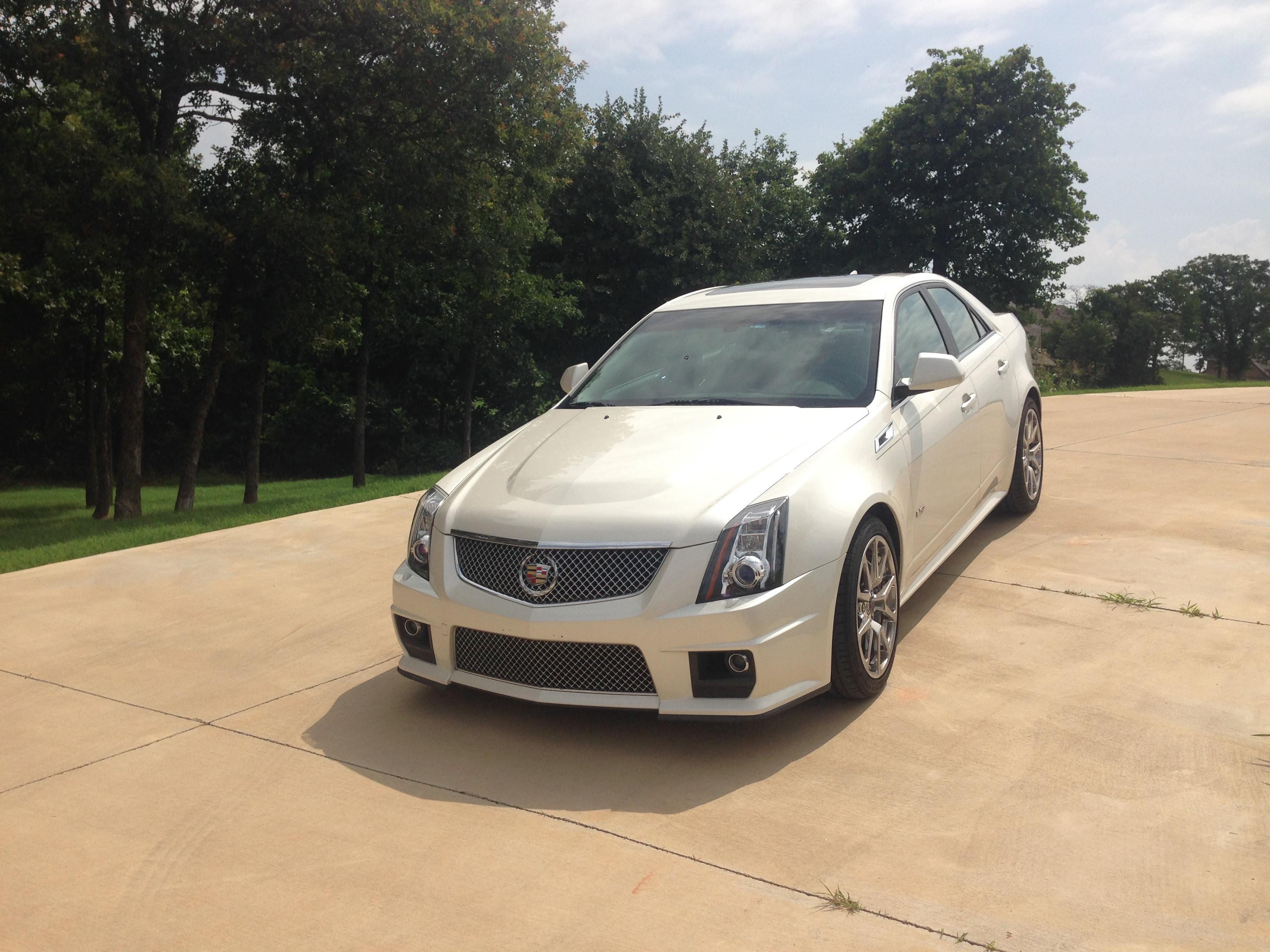 2012 Cadillac CTS V White Diamond Sedan - LS1TECH