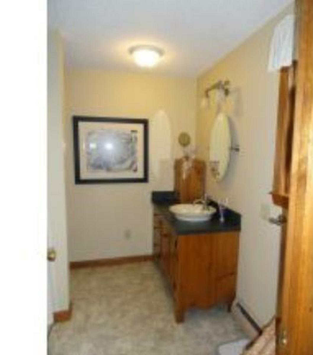 Bathroom Remodel Single Vanity To Double Flooring Vinyl Granite