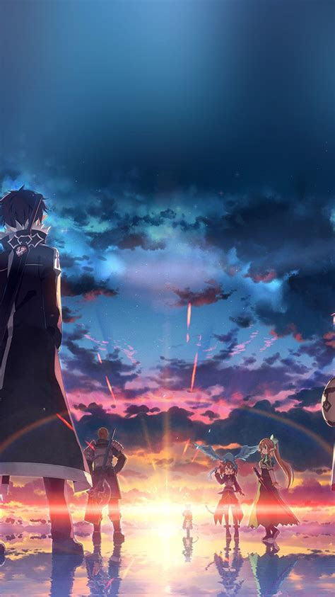 wallpapers iphone  anime sao oboi sword art