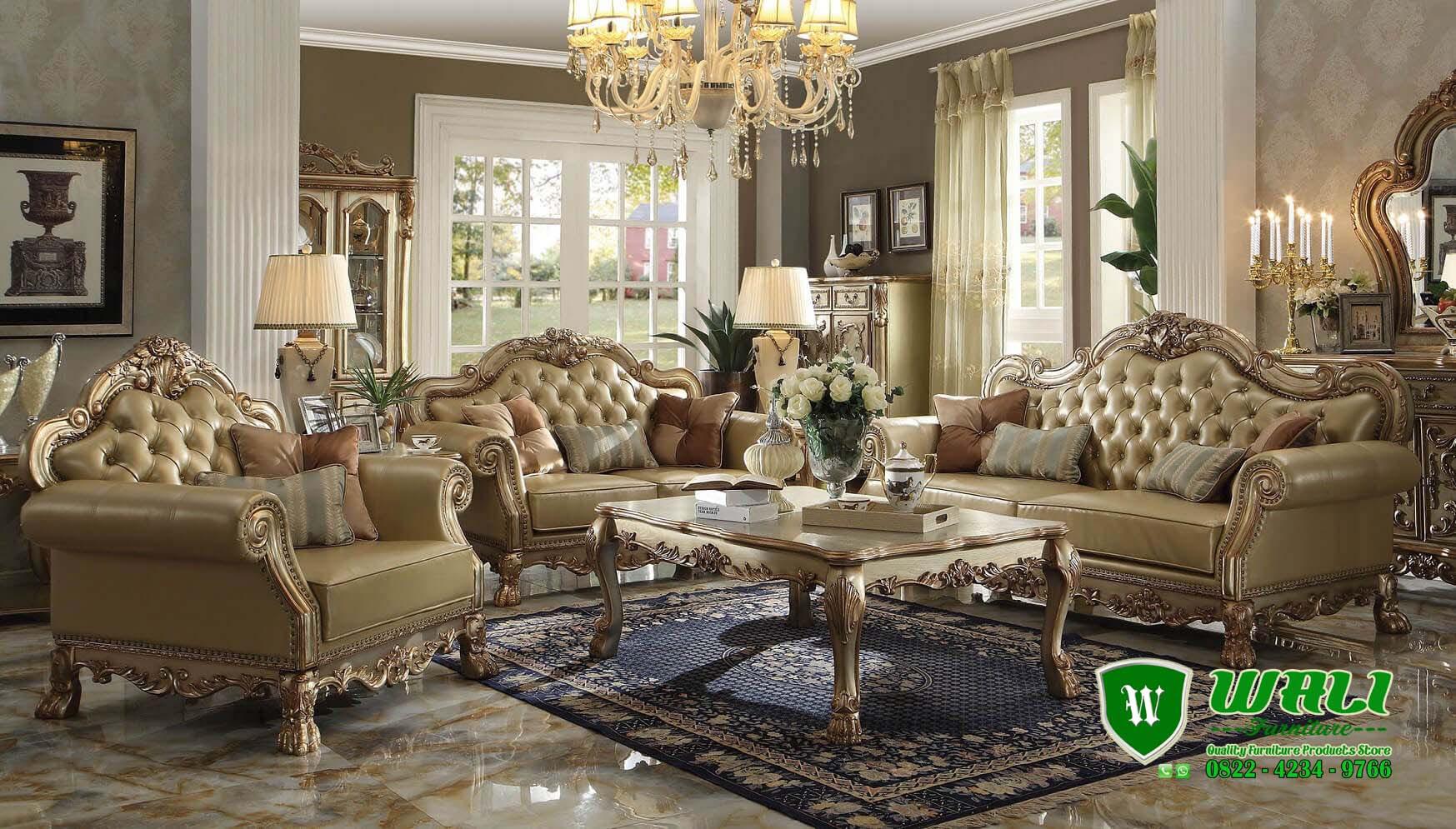 Sofa Tamu Mewah Klasik Terbaru Ukir Mebel Jepara Wali Furniture