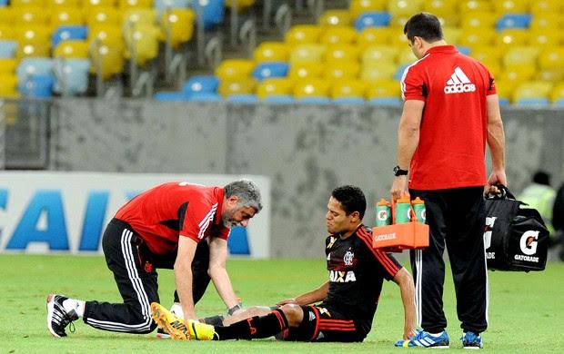 João Paulo machucado jogo Flamengo (Foto: Alexandre Vidal / Fla Imagem)