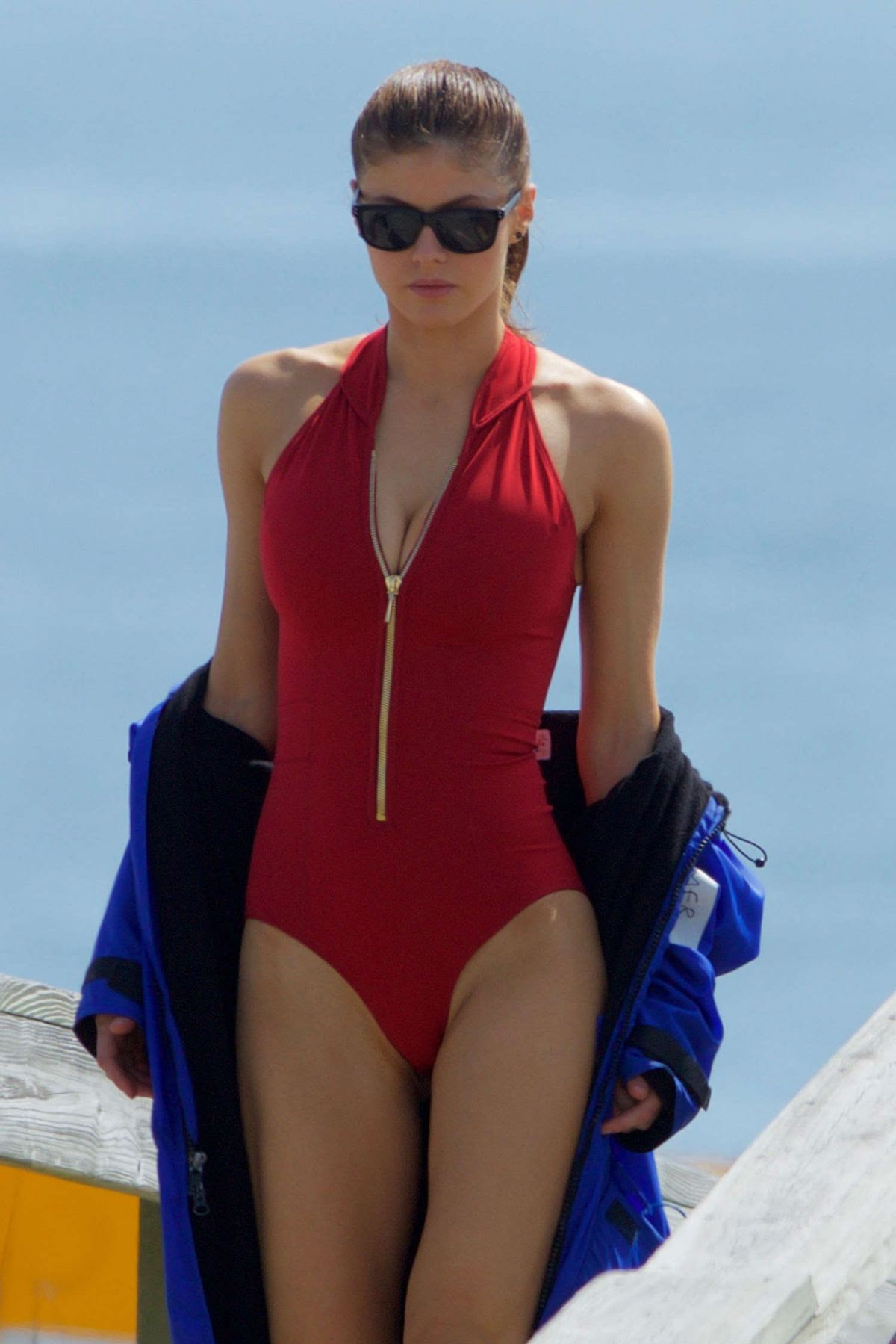 ALEXANDRA DADDARIO in Swimsuit on the